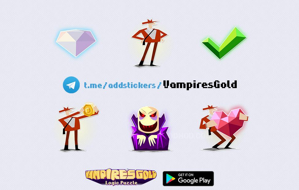Бесплатная игра и стикеры Vampire's Gold