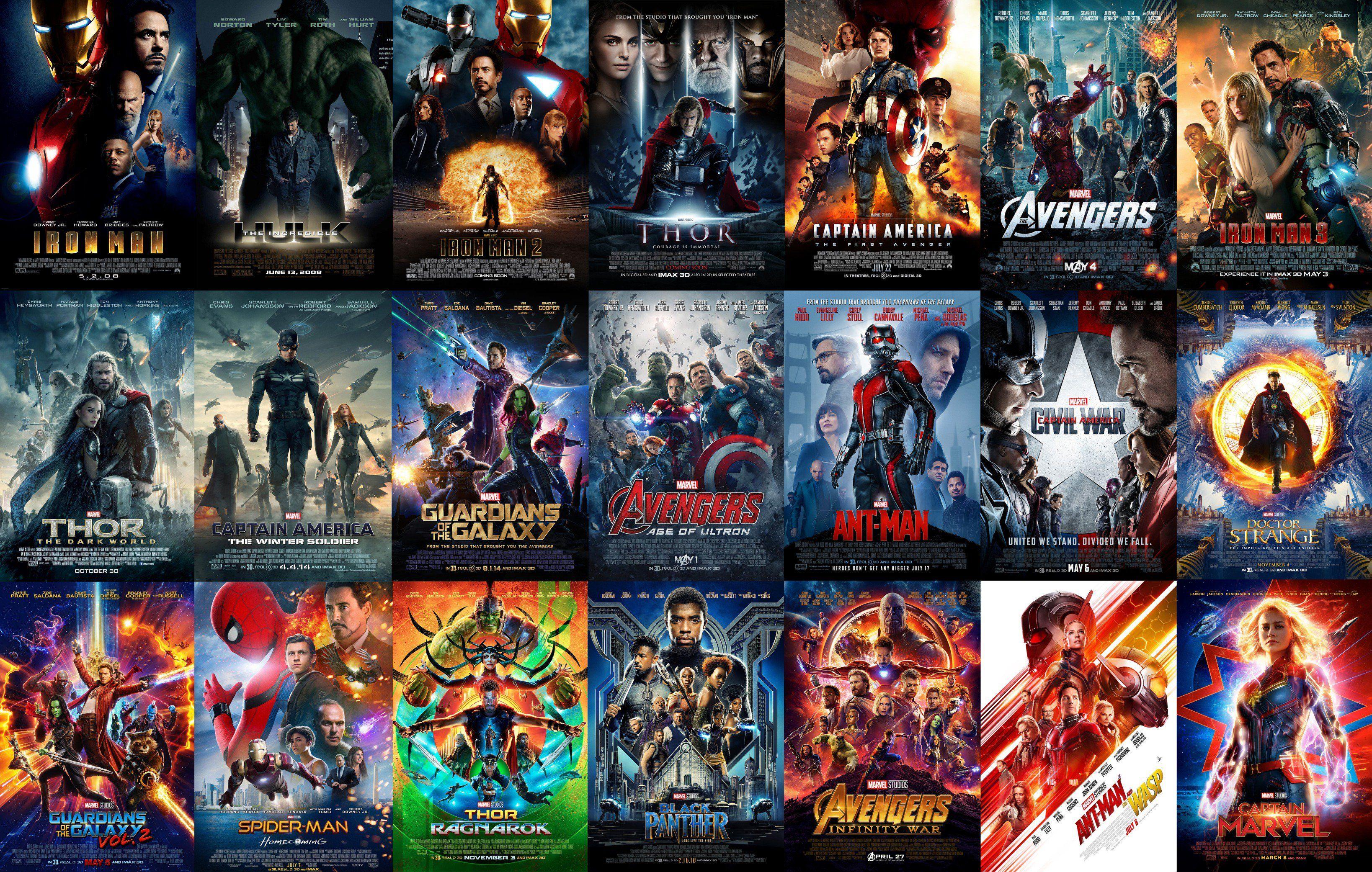 В каком порядке смотреть все фильмы вселенной Марвел