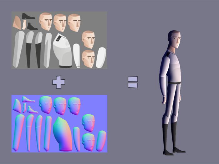 Карта освещения для 2D спрайтов и изображений