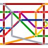 Схема Московского метро с квадратной кольцевой