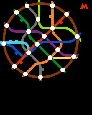Нано схема метро для iWatch