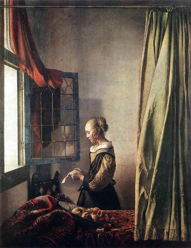 Jan Vermeer, 1657–1659, Girl Reading a Letter at an Open Window