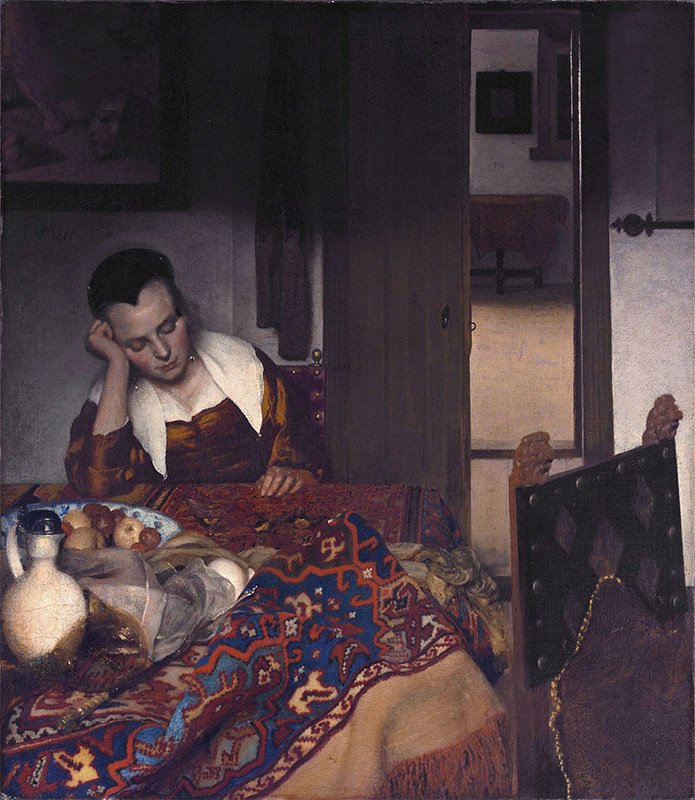 Jan Vermeer, 1657, A Girl Asleep