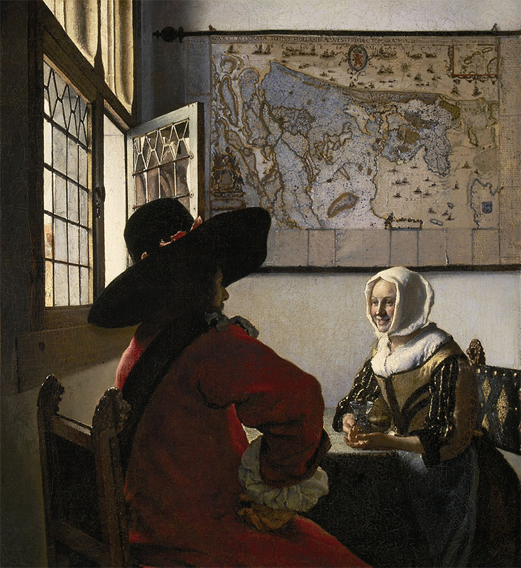 Jan Vermeer, 1657, Officer and Laughing Girl