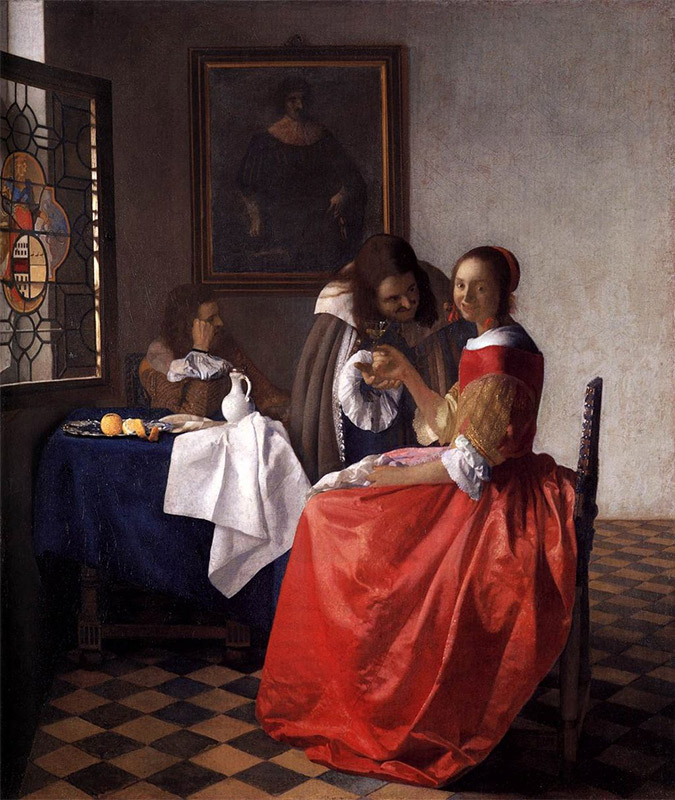 Jan Vermeer, 1659–1660, The Girl with the Wine Glass