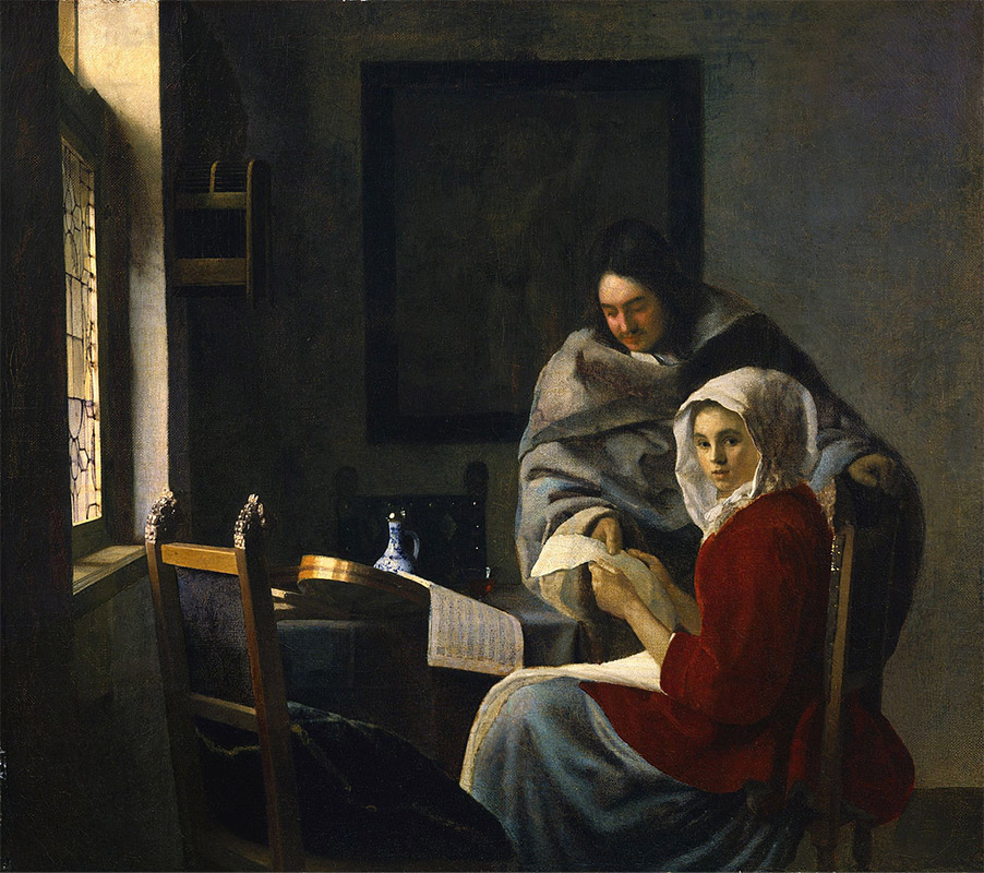 Jan Vermeer, 1660–1661 Girl Interrupted at her Music