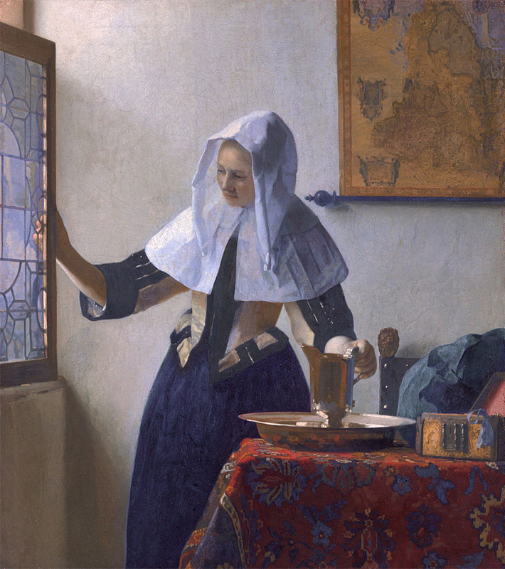 Jan Vermeer, 1660–1662, Woman with a Water Jug