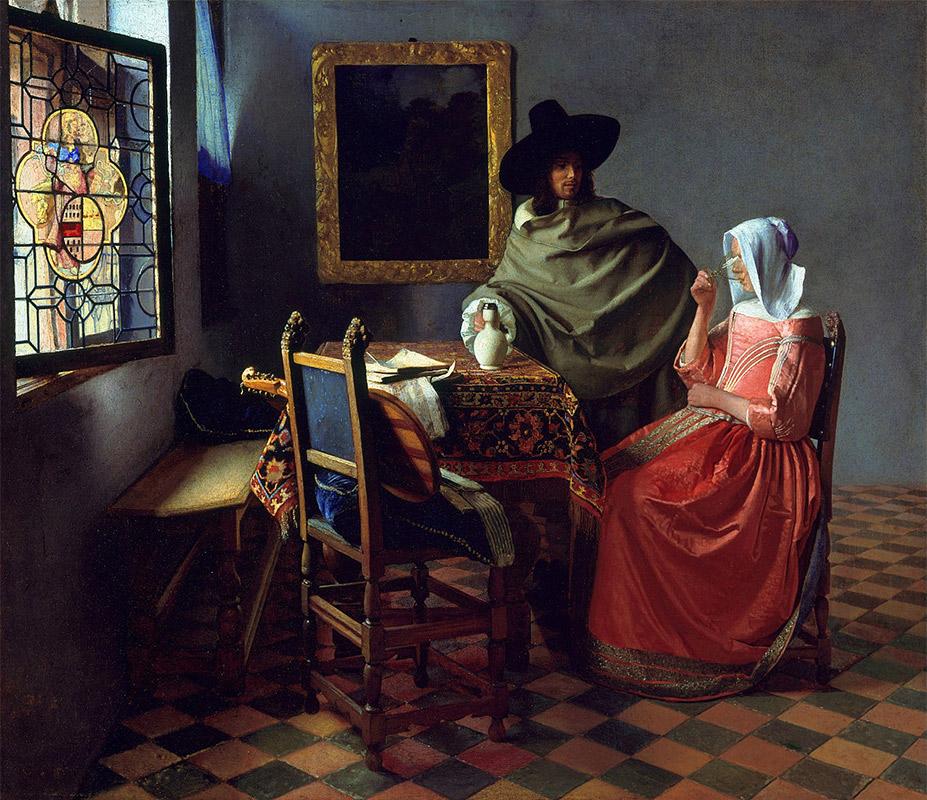 Jan Vermeer, 1660, The Wine Glass