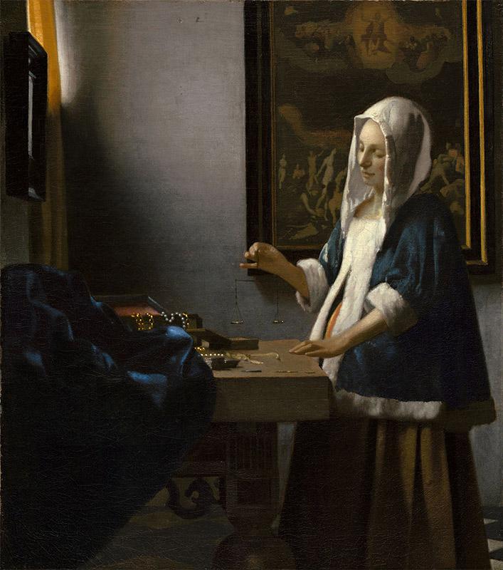 Jan Vermeer, 1662–1663, Woman Holding a Balance