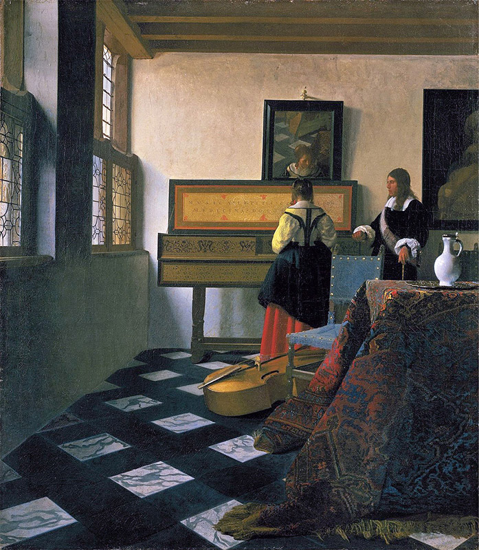 Jan Vermeer, 1662–1665, The Music Lesson