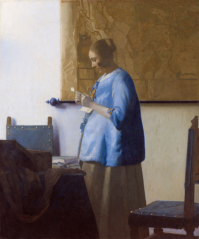 Jan Vermeer, 1663–1664, Woman in Blue Reading a Letter