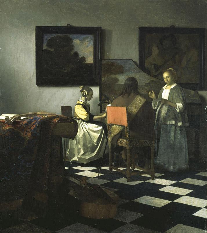 Jan Vermeer, 1664,The Concert
