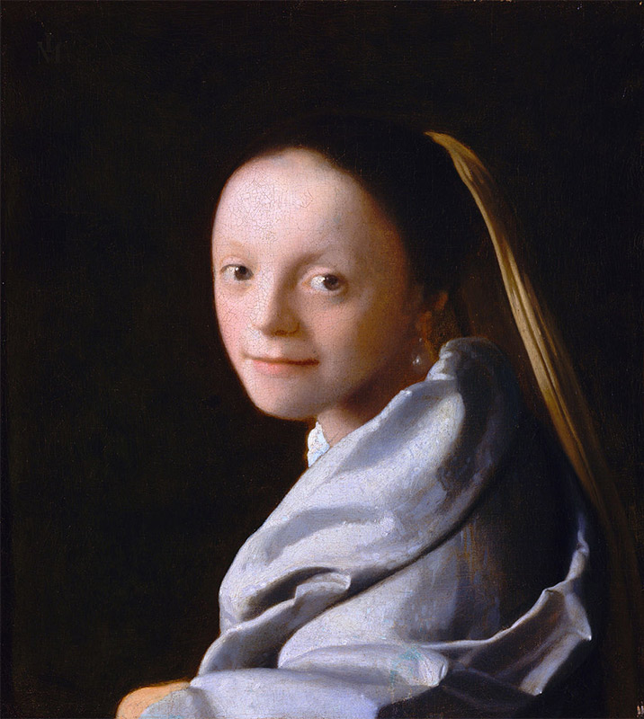 Jan Vermeer, 1665–1667, Portrait of a Young Woman