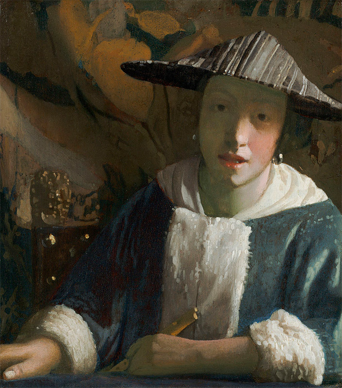Jan Vermeer, 1665–1670, Girl with a FluteWindow