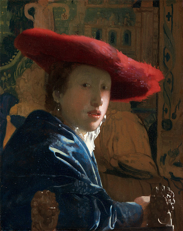 Jan Vermeer, 1665–1666, Girl with a Red Hat