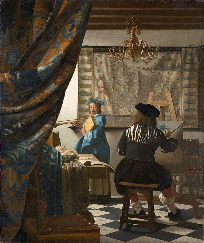 Jan Vermeer, 1666, The Art of Painting