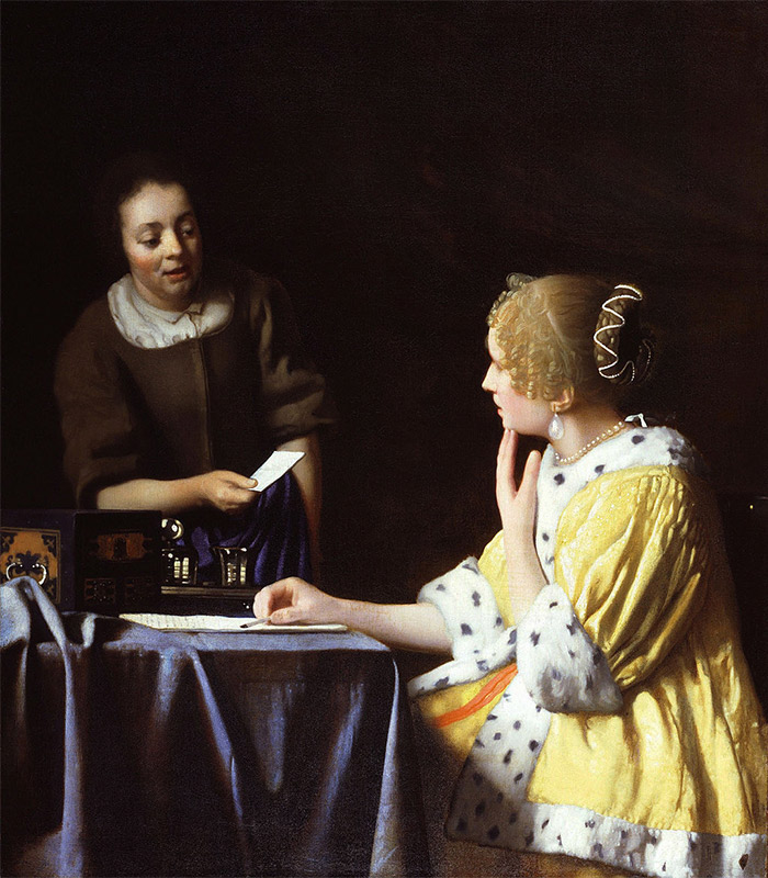 Jan Vermeer, 1667, Mistress and Maid