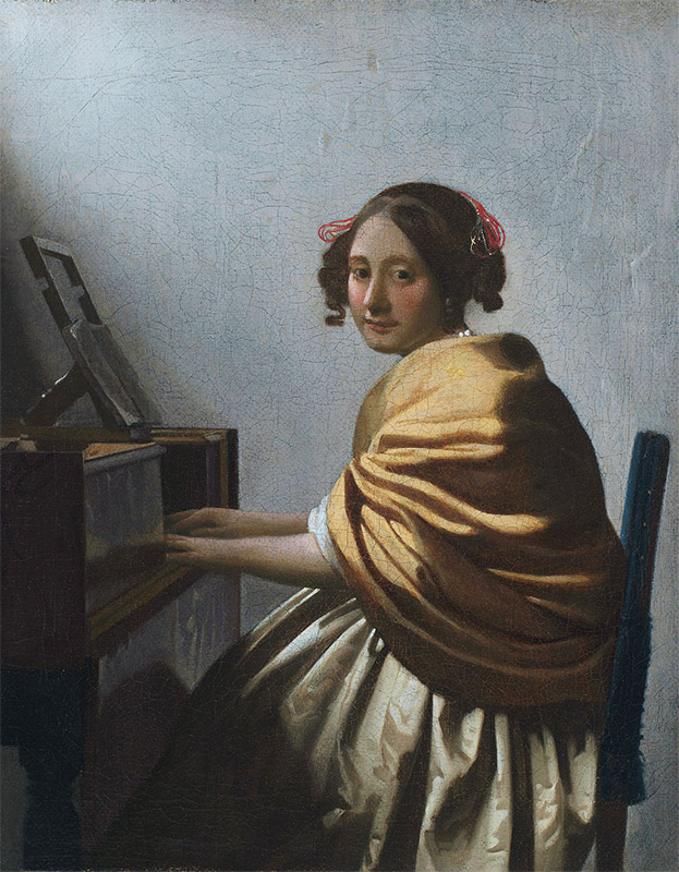 Jan Vermeer, 1670–1672, A Young Woman Seated at the Virginals