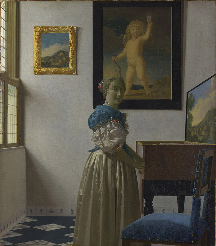 Jan Vermeer, 1670—1672, Lady Standing at a Virginal