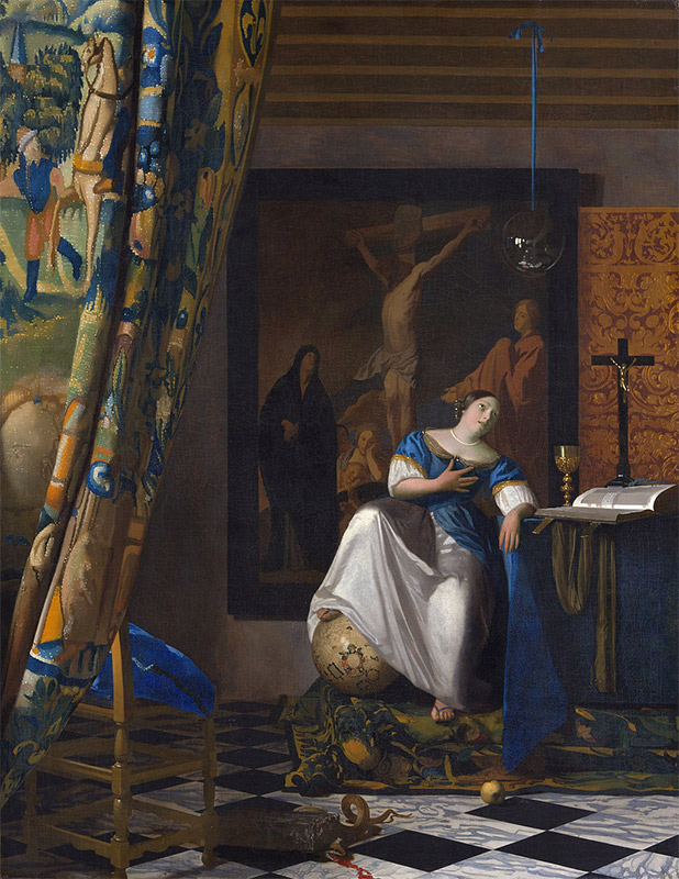Jan Vermeer, 1670-1672, The Allegory of Faith