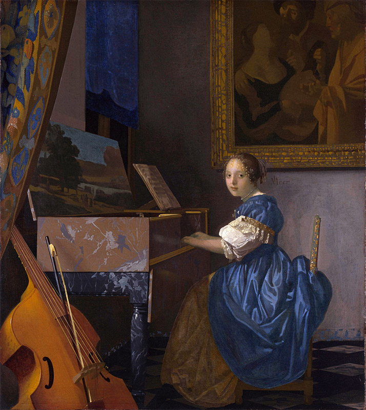 Jan Vermeer, 1670—1672, Lady Seated at a Virginal