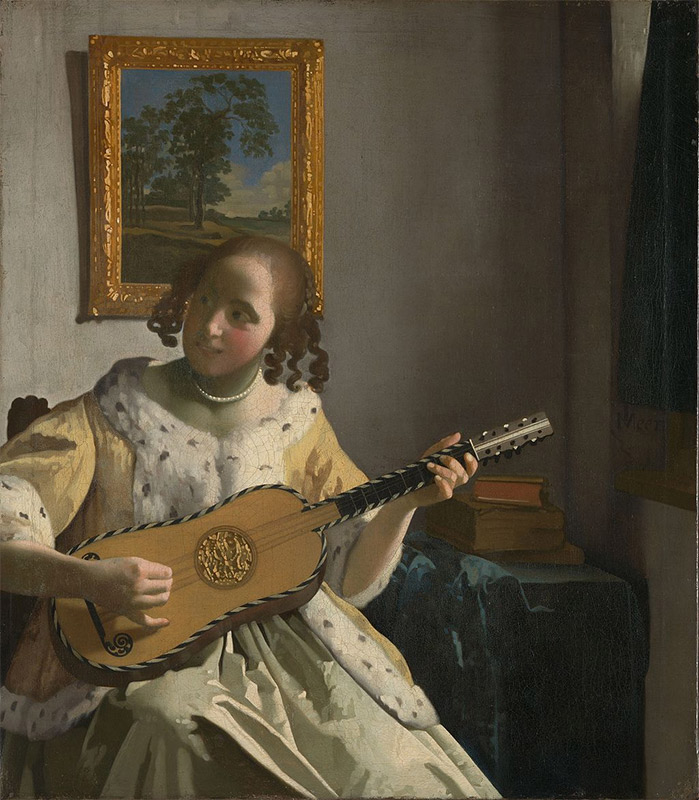 Jan Vermeer, 1672, The Guitar Player