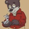 Медведь и котёнок