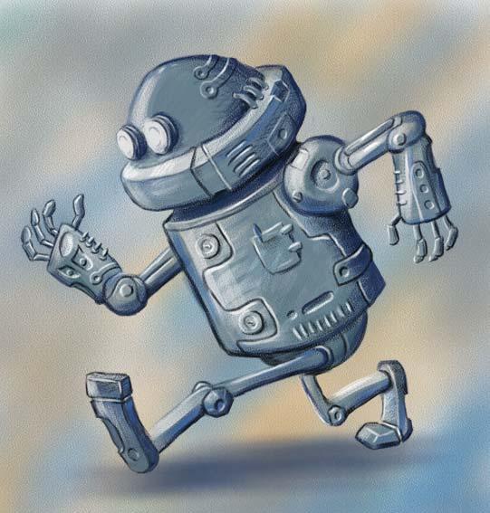 Робот бежит